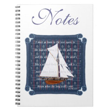 Beach Themed Cutter with Verse - Down to the Seas Notebook