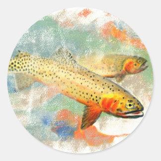 Cutthroat Trout Classic Round Sticker