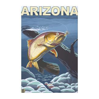 Cutthroat Trout FishingArizona Stretched Canvas Prints