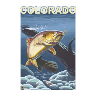 Cutthroat Trout FishingColorado Canvas Print