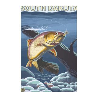 Cutthroat Trout FishingSouth Dakota Stretched Canvas Print