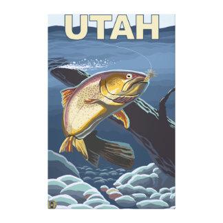 Cutthroat Trout FishingUtah Canvas Print