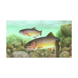Cutthroat Trout Painting Canvas Print