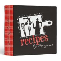 cutting board cooking utensils recipe binder