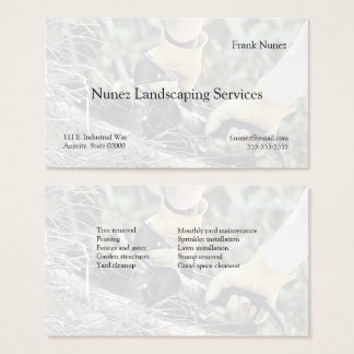 Cutting branches business card