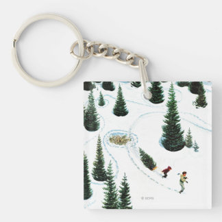 Cutting Down the Tree Keychain