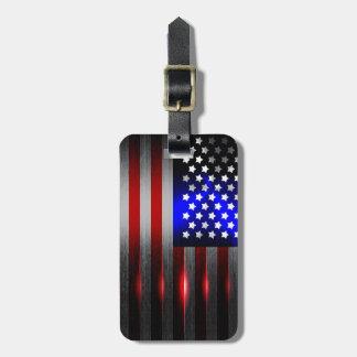 Cutting Edge Laser Cut American Flag 1 Bag Tag