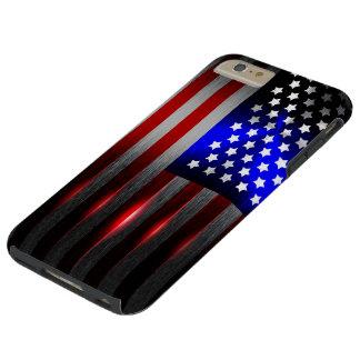 Cutting Edge Laser Cut American Flag 1 Tough iPhone 6 Plus Case