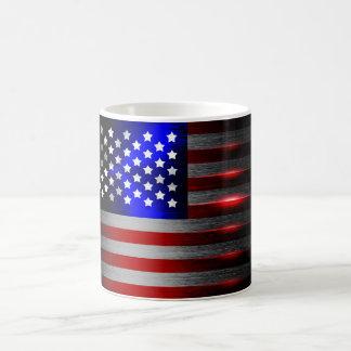Cutting Edge Laser Cut American Flag 1 Coffee Mug