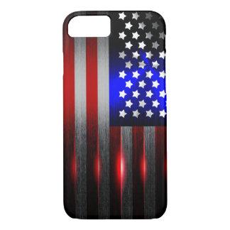 Cutting Edge Laser Cut American Flag 1 iPhone 8/7 Case