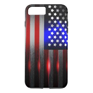 Cutting Edge Laser Cut American Flag 1 iPhone 8 Plus/7 Plus Case