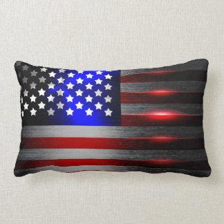Cutting Edge Laser Cut American Flag 1 Lumbar Pillow