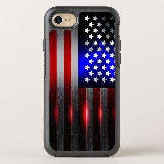 Cutting Edge Laser Cut American Flag 1 OtterBox Symmetry iPhone 8/7 Case