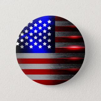 Cutting Edge Laser Cut American Flag 1 Pinback Button