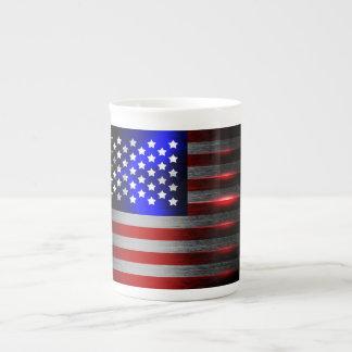Cutting Edge Laser Cut American Flag 1 Tea Cup