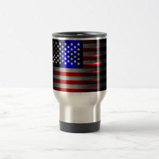 Cutting Edge Laser Cut American Flag 1 Travel Mug