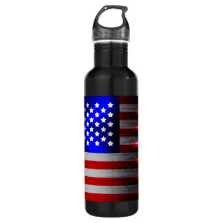 Cutting Edge Laser Cut American Flag 1 Water Bottle