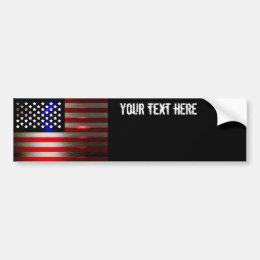 Cutting Edge Laser Cut American Flag 2 Bumper Sticker