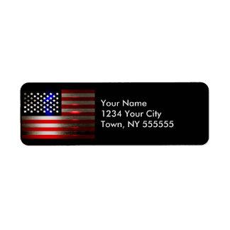 Cutting Edge Laser Cut American Flag 2 Label