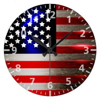 Cutting Edge Laser Cut American Flag 2 Large Clock