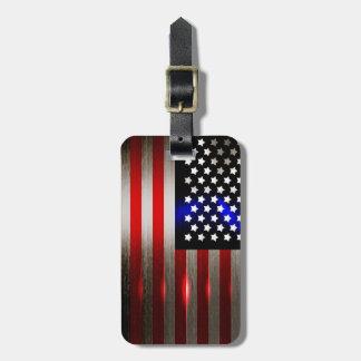 Cutting Edge Laser Cut American Flag 2 Luggage Tag