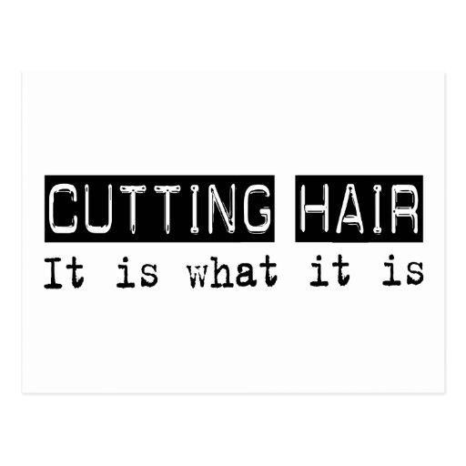 Cutting Hair It Is Postcard