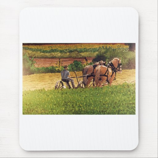 Cutting Hay Mouse Pad