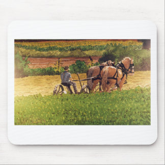 Cutting Hay Mouse Mat