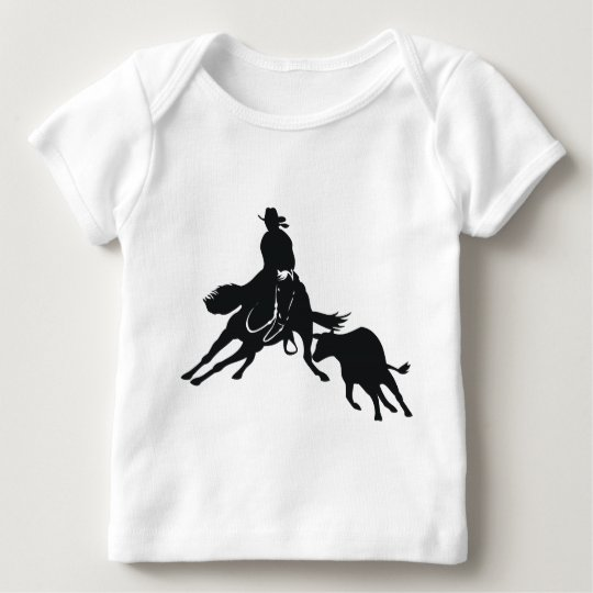 Cutting Horse and cow Baby T-Shirt