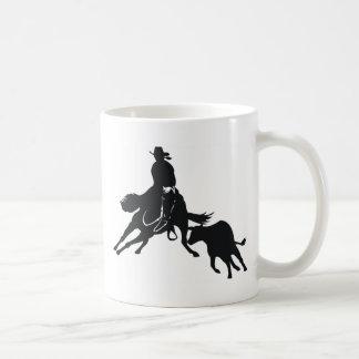 Cutting Horse and cow Classic White Coffee Mug