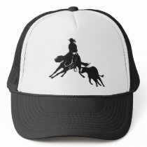 Cutting Horse and cow Trucker Hat