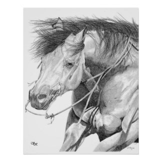 Cutting Horse Poster