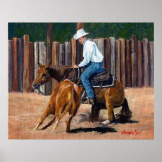 Cutting Horse Quarter Horse Print