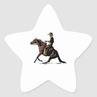 CUTTING HORSE STAR STICKER