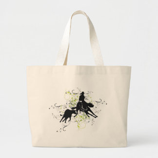 Cutting Horses Large Tote Bag