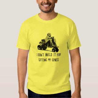Cutting my grass Lawnmower Racing Tee Shirt