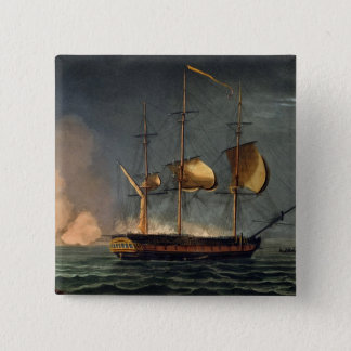 Cutting out of the Hermione from the Harbour of Po Pinback Button