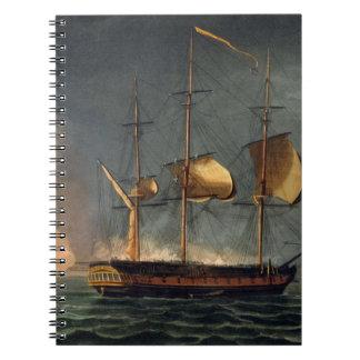 Cutting out of the Hermione from the Harbour of Po Spiral Notebook