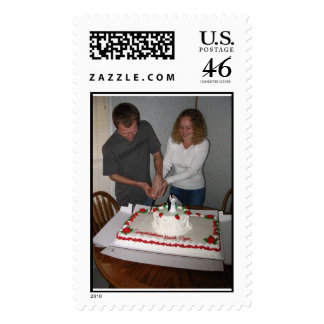 cutting the cake postage stamps