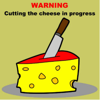 cutting the cheese statuette