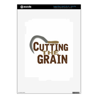 Cutting The Grain iPad 3 Skins