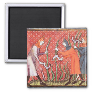 Cutting Trees, from Ovide Moralise 2 Inch Square Magnet