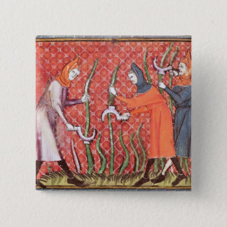 Cutting Trees, from Ovide Moralise Pinback Button