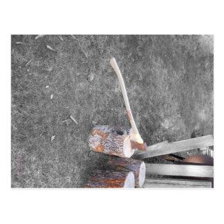 Cutting Wood Postcard