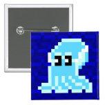 Cuttle Scuttle Blue Cuttlefish Badge Pinback Button