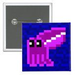 Cuttle Scuttle Lola the Pink Cuttlefish Badge Button