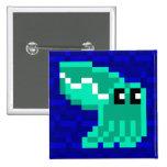 Cuttle Scuttle Lulu the Green Cuttlefish Badge Pin