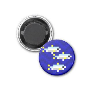 Cuttle Scuttle pixel art sardine mini magnet