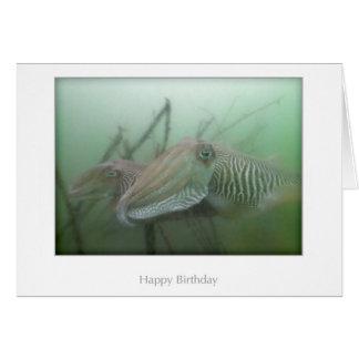 Cuttlefish Birthday Card