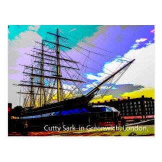 Cutty Sark en Greenwich, Londres Tarjeta Postal